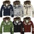 Hottest men's winter warm jacket New arrival  men hoodie faux fur lining sportwear coat free shipping 666