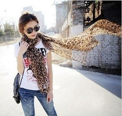 Min order $10 (Mix Order) HOT Ladies&#39; Scarf Leopard Scarf Chiffon Scarf AZ-0011(China (Mainland))