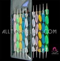 50pcs 2-way Dotting Pen Marbleizing Tool Nail Polish Paint Manicure Dot Nail Art Set - FREE SHIPPING