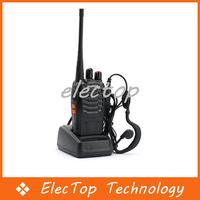 Free shipping Walkie Talkie Handheld Interphone BF-888S 10pcs/lot Wholesale