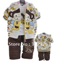 2012 new Spring and Autumn men and women children's clothing baby cartoon cute Parure Japanese and Korean version of the infant