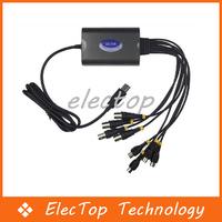Free shipping USB 2.0 4CH DVR CCTV USB Digital Security Camera Video Recorder 10pcs/lot Wholesale