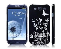 New Butterfly Flower IMD Hard Shell Skin Cover Back Case for Samsung Galaxy S3 SIII I9300 , Free Shipping 10pcs/lot