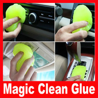 4pcs/lot Free Shipping Car instrument tray cleaning magic universal clean glue magic glue at home vehienlar car wash