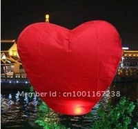 free shipping  5pcs RED Heart  UFO Sky Wishing Lantern Chinese Lantern Wedding Xmas Halloween Lamp SF457,FREE SHIPPING