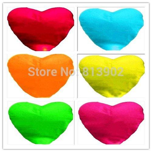 Free shipping Chinese lanterns Heart-shaped Lanterns Sky Lanterns 30pcs/lot SLF10(China (Mainland))