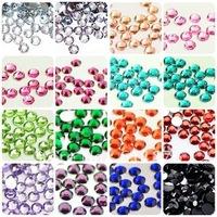 Super shiny 1000pcs 10 mix Color 4MM Nail Art rhinestones Acrylic Nail Decoration For Iphone and laptop DIY