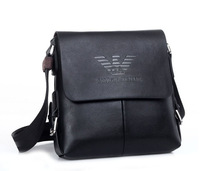 2014 New Famous Brand Male Casual Shoulder Bag Genuine Leather and PU Leather Shoulder Bag Cowhide Shoulder Messenger Bag MB133