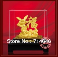 F5004 gift for good luck  advanced 24K gold art gift handiwork-wholesale hot sales artistic gifts inc