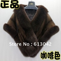 Free shipping Imported 100% mink fur coat mink shawl 2012 new for Europe and the United States