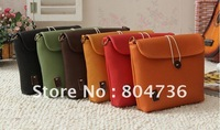 Fashion PU Leather Retro Vintage Style Candy Shoulder Bag Handbag 6 Colors