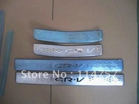 FREE SHIPPING STAINLESS STEEL DOOR SILLS SCUFF PLATE FOR HONDA CRV 2007