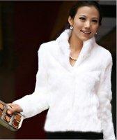 Hot Sale Popular Fashion Women/Girl/Ladies' Coat White Faux Fur Coats Outwear 2013 Free Shipping