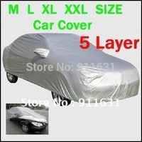 Car Cover 4.15m/4.4m/4.8m/5.2m UNIVERSAL Car Covering RAIN SNOW RESISTANT WATERPROOF OUTDOOR FULL CAR COVER XXL