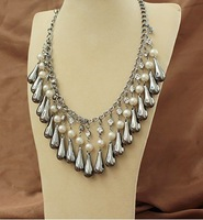 Boximiya short water pearl necklace sweater chain
