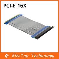 Free shipping DHL Fedex PCI-E Express 16X Riser Card Flexible Ribbon Extender Cable 10pcs/lot Wholesale
