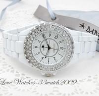 100% real SINOBI brand watches  rhinestone porcelain full rhinestone women's watch fashion table ladies crystal watch