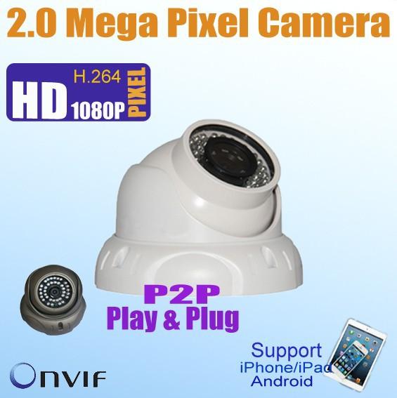 HOT POE Knowledgeware 2.0 Megapixel dome ip web camera,POE,ONVIF KE-HDC232(China (Mainland))