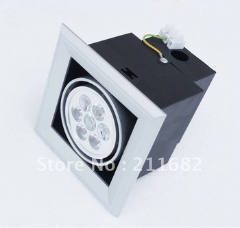 Free shipping 3-18W 270-1620lm Square LED bean pot lamp single head of thick aluminum lighting grid  --2 Year Warranty