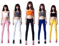 Free Shipping Women Sexy Candy Colors Pencil Pants Slim Fit Skinny Stretch Jeans Trousers 999