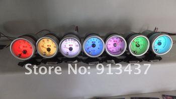 52MM 2 INCH LED 7 COLORS VACUMM GAUGE Factory outlets HOT SALE 7C7706 CLEAR LENS