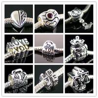 free shipping!  wholesale & retail  10 PCS european silver beads charms fit BIAGI bracelet necklace S13