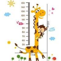 Kids wall stickers Giraffe Kids Growth Chart Height Measure Sticker home decoration PVC sticker home decor Free shipping!