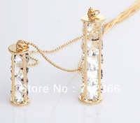 Min order $8.8(Mix order).Exquisite Shining Crystal Pendant Necklace Fashion Women's Double Layer Long Necklace High Quality