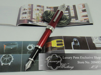 Free Shipping!14k Platinum Jules Verne Memorial Edition Luxury Pen,Red Color,3 Styles