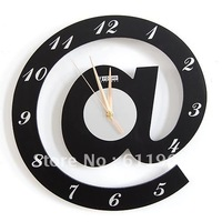 FREE SHIPPING! Derlook letter fashion wall clock wool art wall clocks,good gift