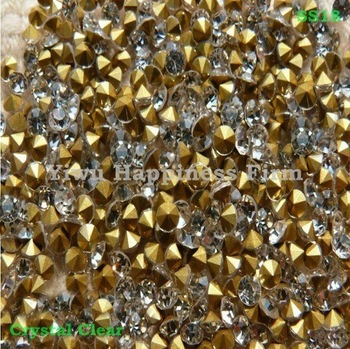 China A grade Loose Pointback Glass Rhinestone SS18(4.2-4.4mm),20Gross Pointed Back Stones DIY Earphone Jack Anti Dust Plug