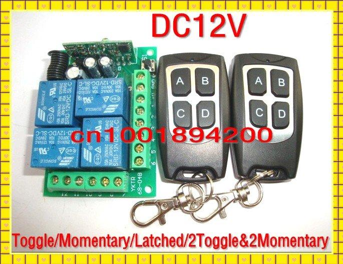 Дистанционный выключатель DC12V 4/& RF дистанционный выключатель orvibo wiwo r1 allone wi fi ac dvd rf wiwo r1