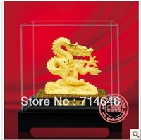 Rzlp L0739 flcking alluvial gold gift and dragon mascot 24K gold plated gift and home decoration