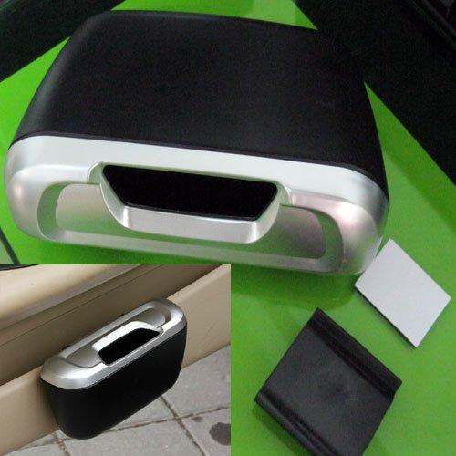 Free Shipping Mini Auto Car Trash Rubbish Can Garbage Dust Case Holder Box Bin Black(China (Mainland))