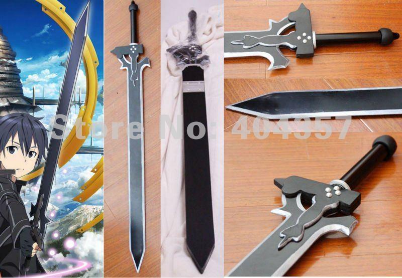NEW Sword Art Online Kirito Black Sword Cosplay tool 1M customization(China (Mainland))