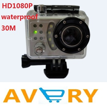 Full HD 1080P Waterproof Car Bike Sports Helmet Action Dash Camera Cam DVR Suptig (like gopro )+170 wide Angle lens Camera