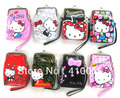 Hot Sell 12 Pcs Hello kitty wrist length bag hand coin purse cartoon lady Cosmetic Bag