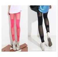 candy color legging/sexy mesh design/Women trousers pants Leggings pantyhose,/fashion legging 2012 /ankle-length pants