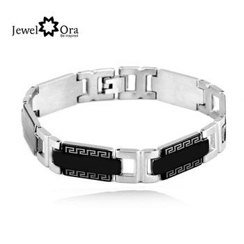 Wholesale Chain Link bracelet men jewelry fashion Stainless Steel Bracelet (JewelOra BA100175)