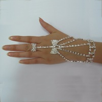 2012  New arrival Free shipping 5pcs/lots bowknot  bridal ring bracelet crystal bracelet and ring wedding BG114536