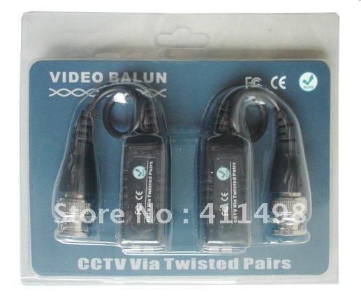 cctv passive Video Balun CCTV BNC Connector cable UTP CAT5 Twistered Pair Transceiver Cable FCC CE Description(Hong Kong)