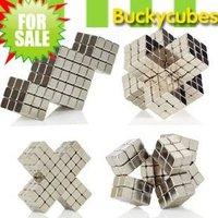 Buckycube Neocube, Neodymium Magnetic Balls Cube Sphere Block Size: 5mm 125pcs/set+2pcs with Tin Box,Color:Nickel, Free Shipping