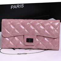 Brand Designer Genuine Leather Cluth Bags For Women Fashion Sheepskin Plaid Grain Wallet Women Purse A6605