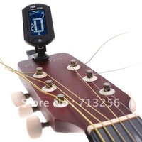 Free Shipping Dropshipping 10pcs/lot  LCD Digital Bass Violin Ukulele Guitar Tuner I34 with Battery