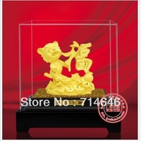 Rzlp F5004  flcking alluvial gold  gift with  craft  home  decoration  and blessing crafts
