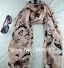 Lady's fashion chiffon scarves trendy design Marilyn Monroe women scarf elegant Wraps Free shipping 28pcs/lot