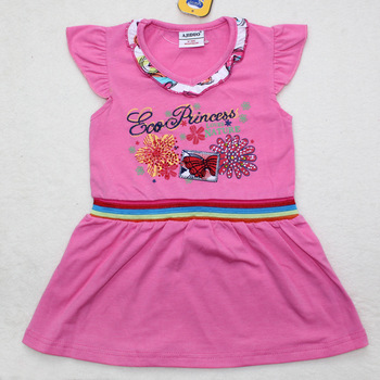 2013 New arrive summer dress for girls 100%cotton children frocks fashion designs 6pcs/lot suit 1-6years old kids free shipping