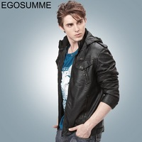 2012 autumn and winter coat washed leather new men's business and leisure hooded jacket outerwear promotions FLM006