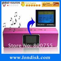 Music Angel Speaker JH-MAUK5 free shipping USB/TF card portable speaker with FM radio+100% original COOL sound quality