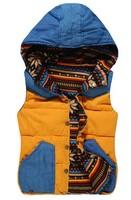 M,L,XL 5 color 2014 autumn winter with a hood reversible down cotton new fashion vest women hoodie tank top down coat  free ship